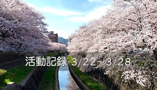 【活動記録】桜をたずねて40000歩(2021.03.22~03.28)